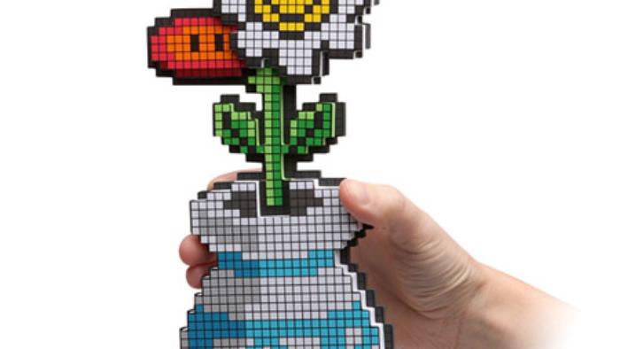 Fleurs en pixels