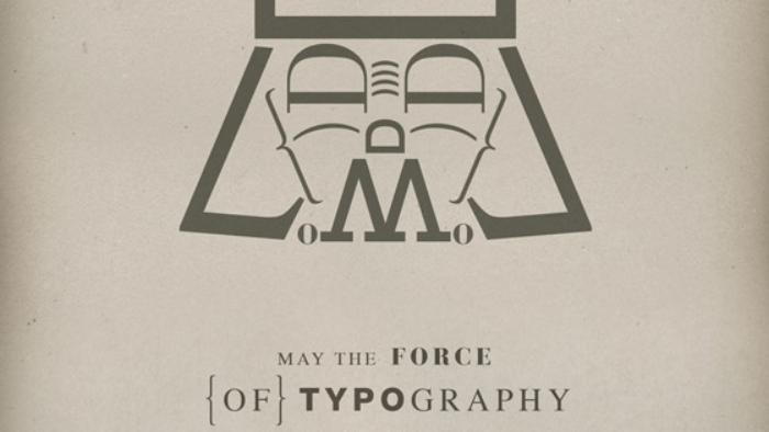 Dark Vador typographie